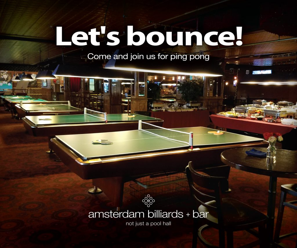 PARTIES Amsterdam Billiards - Pool table rental nyc